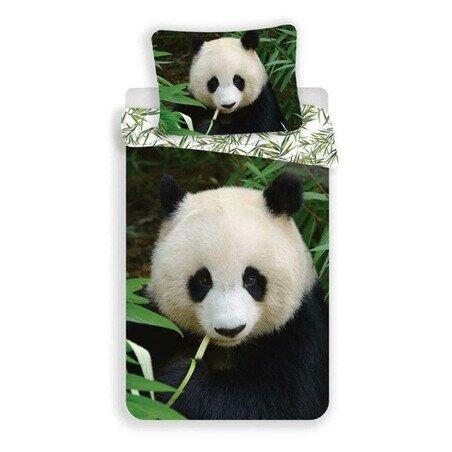 Panda 2 reszes pamut-vaszon gyerek agynemuhuzat