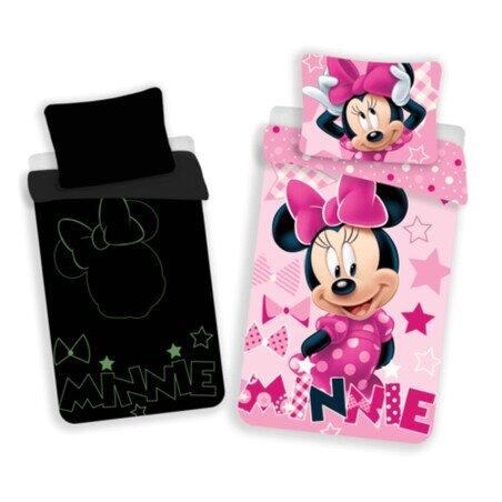 Disney Minnie eger foszforeszkalo 2 reszes pamut-vaszon gyerek agynemuhuzat