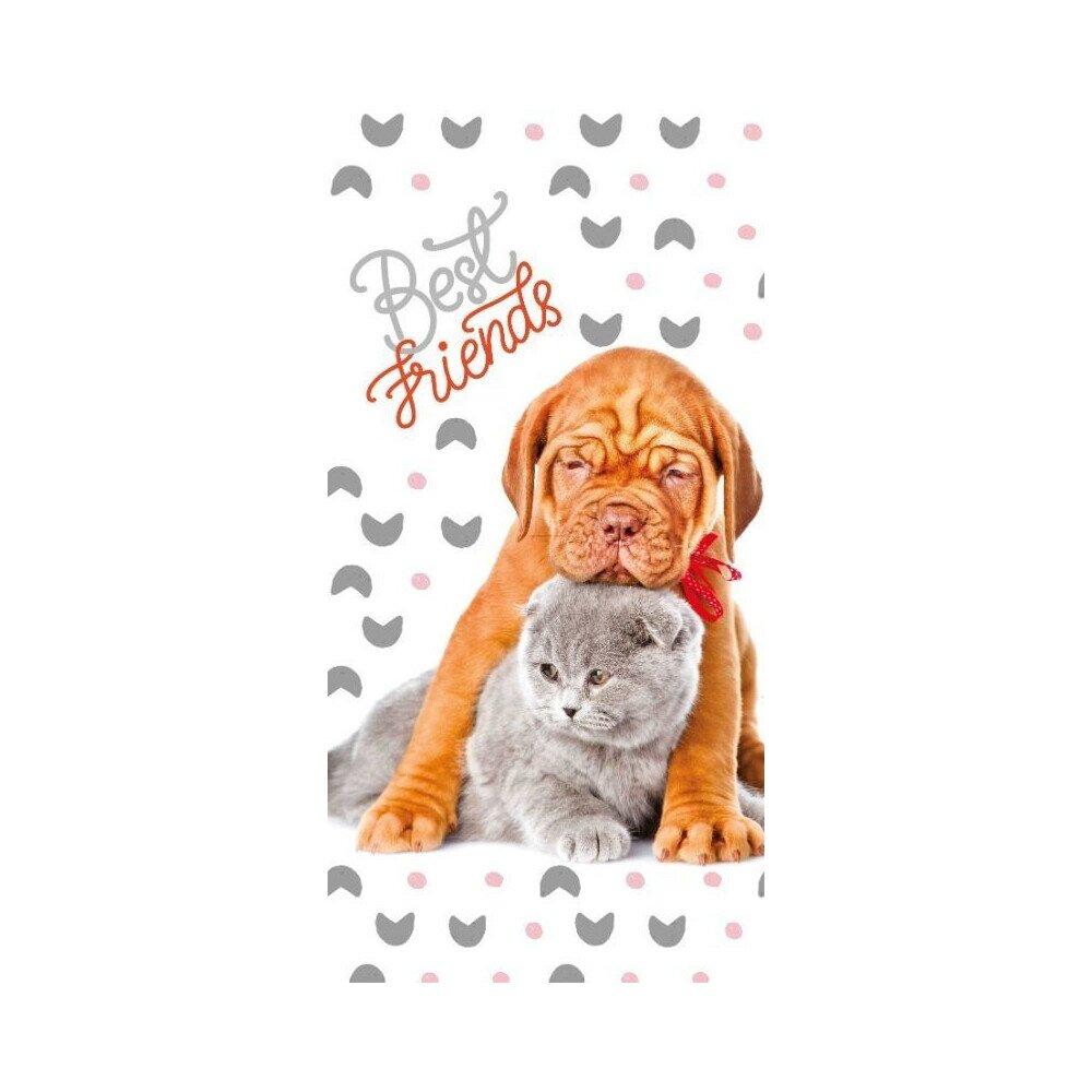 Kutya macska baratsag pamut torolkozo 75x150 cm