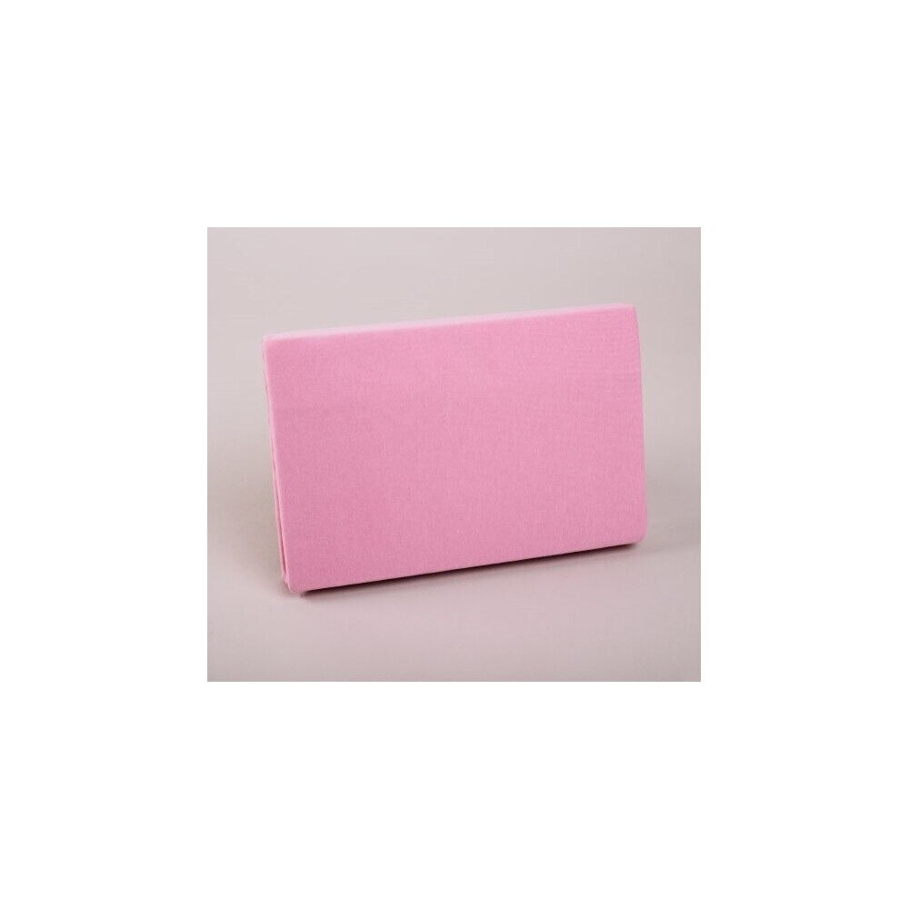 Pamut  Jersey vilagos rozsaszinu gumis lepedo 200x200 cm