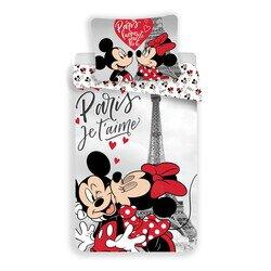 Disney Minnie és Mickey eger az Eiffel toronynal 2 reszes pamut-vaszon gyerek agynemuhuzat 50x70 cm parnaval