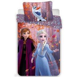 Jégvarázs 2 sister purple 2 részes Disney pamut-vászon gyerek ágynemű 50x70 cm párnahuzattal