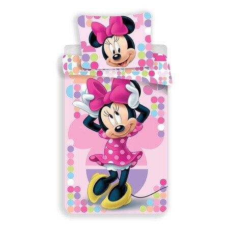 Minnie Mouse pink 2 részes Disney pamut-vászon gyerek ágyneműhuzat