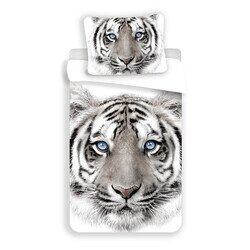 Feher tigris 2 reszes pamut-vaszon gyerek agynemu