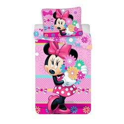 Disney Minnie eger viragokkal 2 reszes pamut-vaszon gyerek agynemu