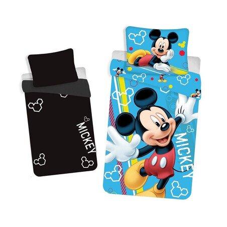 Mickey Egér foszforeszkáló 2 részes Disney pamut-vászon gyerek ágyneműhuzat