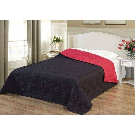 Naturtex ágytakaró Emily microfiber piros-fekete 235x250cm
