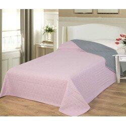 Naturtex ágytakaró Emily microfiber rózsaszín-szürke 235x250cm