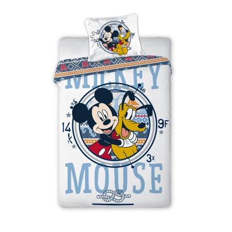 Disney Mickey egér és Pluto ovis 2 részes pamut-vászon ágynemű