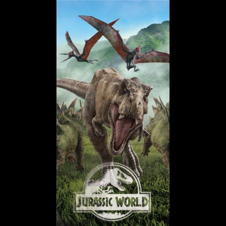 Jurassic World pamut torolkozo 70x140 cm