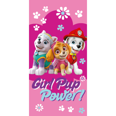 Mancs orjarat Girl Pup Power pamut torolkozo 70x140 cm