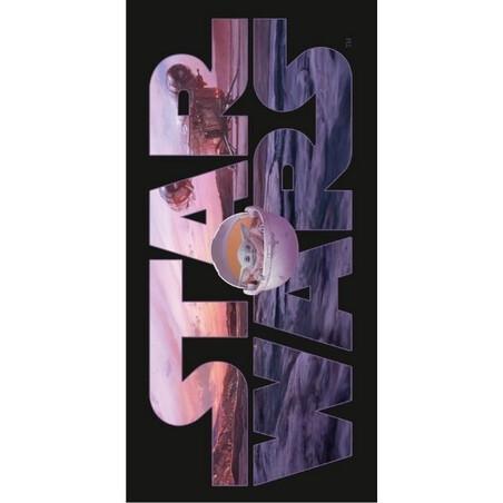 Star Wars Mandalorian pamut strandtorolkozo 70x140 cm