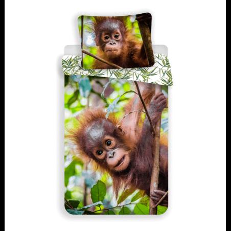 Orangutan 2 reszes pamut-vaszon agynemuhuzat