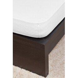 Pamut Jersey fehér gumis lepedő 80-100x200 cm