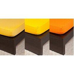 Pamut Jersey narancs színű gumis lepedő 200x200 cm