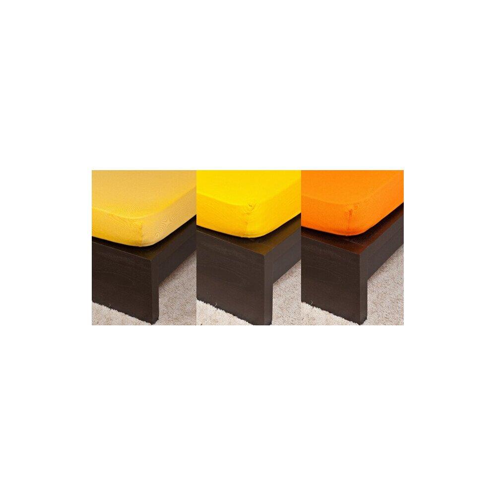 Pamut Jersey narancs szinu gumis lepedo 200x200 cm