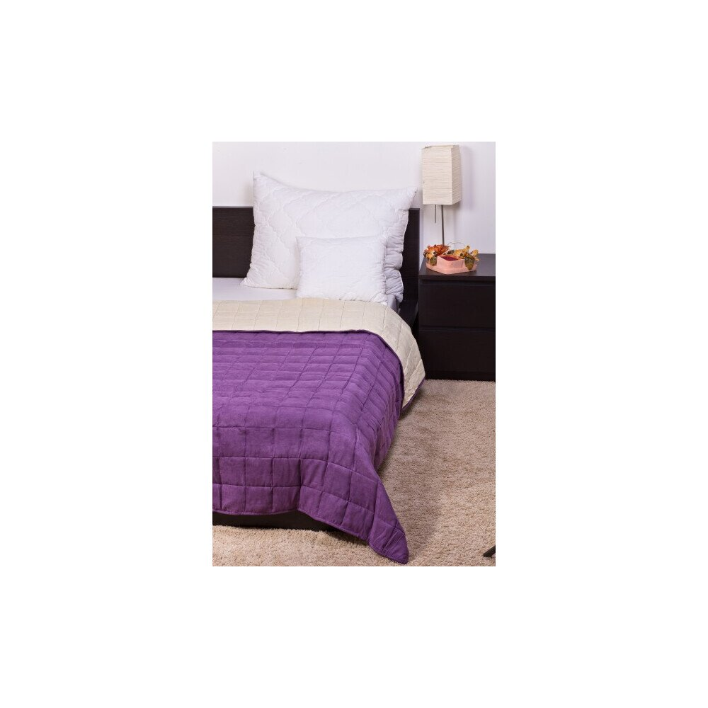 Ágytakaró Bőrhatású törtfehér-lila140x240cm
