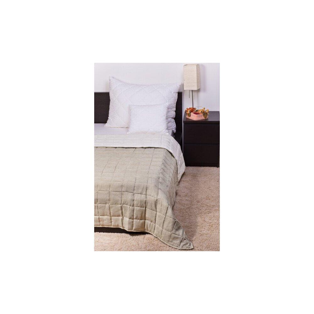 Ágytakaró Bőrhatású moha-krém 140x240cm