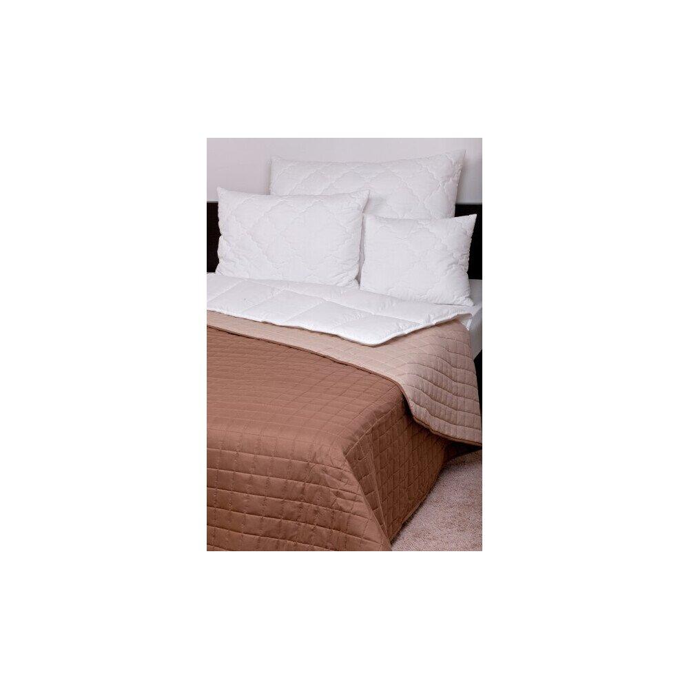 Ágytakaró Laura microfiber barna-drapp 235x250cm